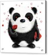 Valentine's Panda Acrylic Print