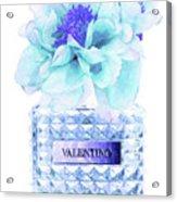Valentino Blue Perfume Acrylic Print