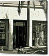 Valentino On Rodeo Drive Acrylic Print