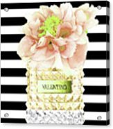 Valentino Perfume With Flower Acrylic Print