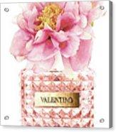 Valentino Pink With Peony Acrylic Print