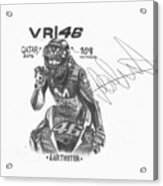 Valentino Rossi Drawing Sign Acrylic Print