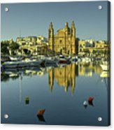 Valletta Reflected  Acrylic Print