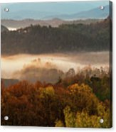 Valley Fog At Sunrise One Acrylic Print