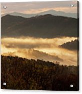 Valley Fog At Sunrise Two Acrylic Print
