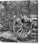 Valley Forge Battery Blackened White Acrylic Print