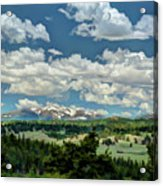 Valley In The Rockies Acrylic Print