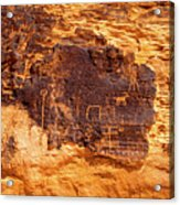 Valley Of Fire Ancient Petroglyphs Acrylic Print