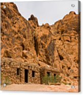 Valley Of Fire Cabins Acrylic Print