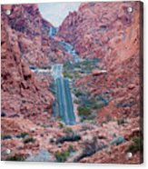 Valley Of Fire Drive Acrylic Print