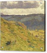 Valley Of The Teme, A Sunny November Morning Acrylic Print