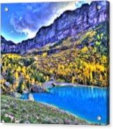 Valley Peak And Falls Acrylic Print