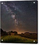 Valley Road Homestead Under A Milky Way Acrylic Print