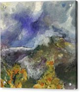 Valley Storm Clouds Acrylic Print