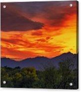 Valley Sunset H32 Acrylic Print