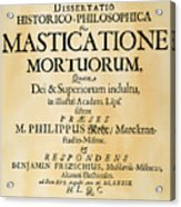 Vampire Book, 1679 Acrylic Print