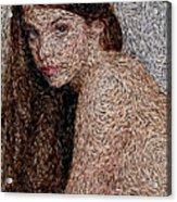 Van Gogh Eyes Acrylic Print