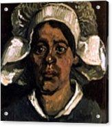 Van Gogh: Peasant, 19th C Acrylic Print
