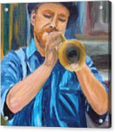 Van Gogh Plays The Trumpet Acrylic Print