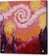 Van Gogh Sunset Acrylic Print