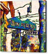 Van Gogh Takes A Wrong Turn And Discovers The Castro In San Francisco . 7d7547 Acrylic Print