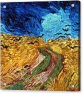 Van Gogh: Wheatfield, 1890 Acrylic Print