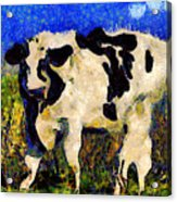 Van Gogh.s Big Bull . 7d12437 Acrylic Print by Wingsdomain Art and Photography