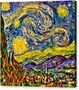 Van Gogh's 'starry Night' - Hdr Acrylic Print