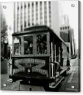 Van Ness And Market Cable Car- By Linda Woods Acrylic Print