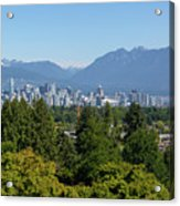 Vancouver Bc City Skyline From Queen Elizabeth Park Acrylic Print