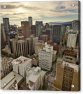 Vancouver Bc Cityscape Aerial View Acrylic Print
