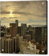 Vancouver Bc Cityscape During Sunset Acrylic Print