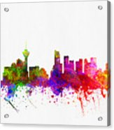 Vancouver British Columbia Skyline Color02 Acrylic Print
