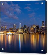 Vancouver City Twilight Acrylic Print