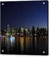 Vancouver Night Lights Acrylic Print