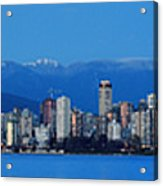 Vancouver Panorama   This Can Be Printed Very Large Acrylic Print by Pierre Leclerc Photography