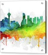 Vancouver Skyline Mmr-cabcva05 Acrylic Print