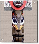 Vancouver Totem - 3 Acrylic Print by Linda  Parker
