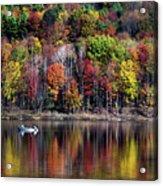Vanishing Autumn Reflection Landscape Acrylic Print