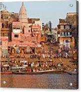 Varanasi From Ganges River Acrylic Print