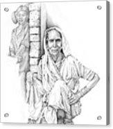 Varanasi Woman Acrylic Print
