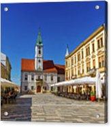 Varazdin Main Square, Croatia Acrylic Print