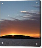 Variations Of Sunsets At Gulf Of Bothnia 1 Acrylic Print