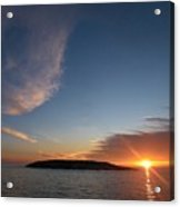 Variations Of Sunsets At Gulf Of Bothnia 2 Acrylic Print