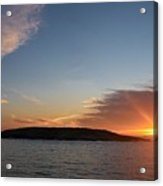 Variations Of Sunsets At Gulf Of Bothnia 3 Acrylic Print