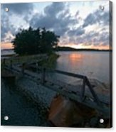 Variations Of Sunsets At Gulf Of Bothnia 6 Acrylic Print