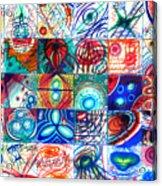 Variety Of Space Galaxies Stars Anomalies. Part 1 Acrylic Print