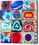 Variety Of Space Galaxies Stars Anomalies. Part 3 Acrylic Print