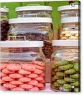 Various Cookies In Glass Jars Acrylic Print