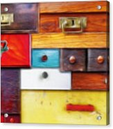 Various Old Drawers - In Utter Secrecy Acrylic Print